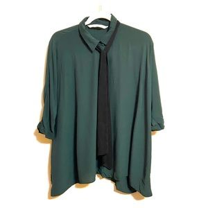 Zara Green Tunic Blouse